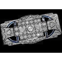 SPRZEDANA - Antyczna broszka Art Deco