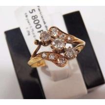 ANTYCZNY pierścionek z brylantami - 0.75ct