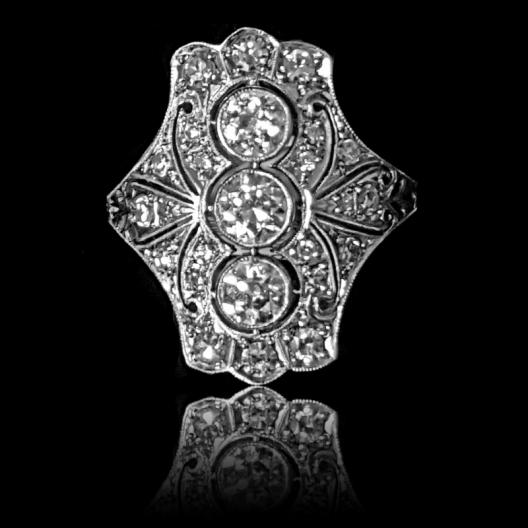 158 - Wyjątkowy platynowy pierścionek 1,23ct