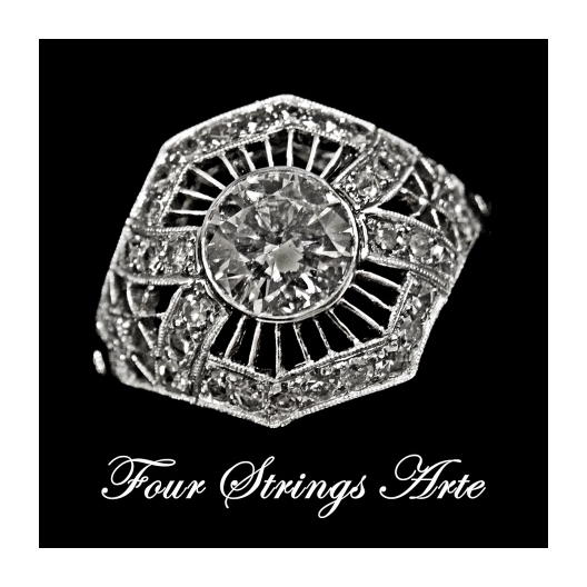 Four Strings Arte Platinum Ring