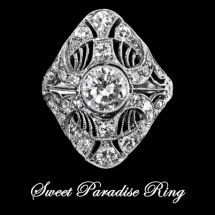 Sweet Paradise Platinum Ring