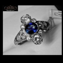Blue Glamour Ring