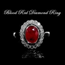 Blood Red Diamond Ring
