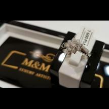 M&M GOLD - Pierścionek kwiatuszek