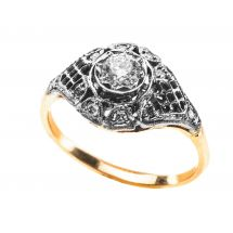 Shadow Collection White&Yellow Gold Ring