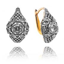 Shadow Collection White&Yellow Gold Earrings