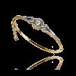 Bransoletka z diamentami wykonana ze złota oraz platyny