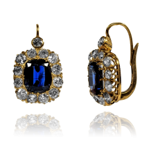 STARE Kolczyki z diamentami ~4,00ct, wykonane ze złota