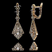 Kolczyki z diamentami wykonane ze złota