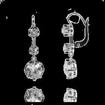 Kolczyki z brylantami w starych szlifach ~4,00ct wykonane ze złota