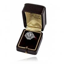 Platynowy pierścionek w stylu Art Deco z brylantem ~1.90ct