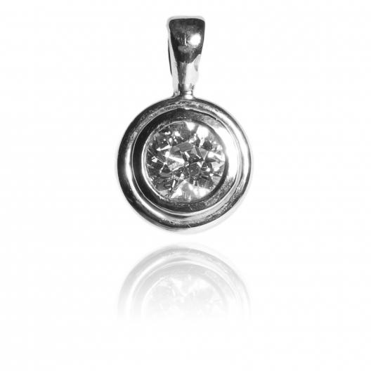 Wisior złoty z diamentem 0.90ct