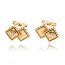 Spinki z diamentami wykonane ze złota 0.750
