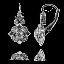 Platynowe kolczyki z centralnymi brylantami ~1,00ct E-F/SI