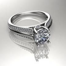 pierścionek z brylantem 2ct
