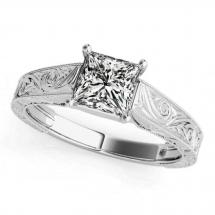 brylant diament princessa pierścionek prostokątny diament