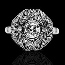 pierścionek art deco z brylantem jubiler warszawa
