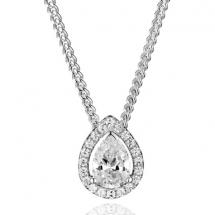 naszyjnik brylant diament łezka gruszka