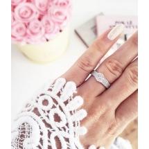Pierścionek zaręczynowy z brylantem whiteluxury 707