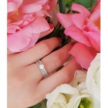 Pierścionek zaręczynowy z brylantem whiteluxury 708