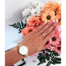 Pierścionek zaręczynowy z brylantem whiteluxury 705