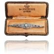 ANTYCZNA Platynowa bransoletka z diamentami w stylu Art Deco