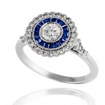 Pierścionek z brylantem FANTASY blue sapphire
