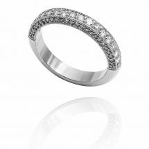 Luxury Sides pierścionek białe złoto
