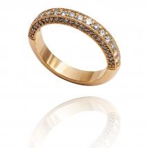 Luxury Sides pierścionek żółte złoto
