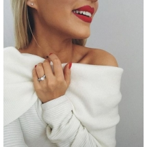 Pierścionek zaręczynowy z brylantem whiteluxury