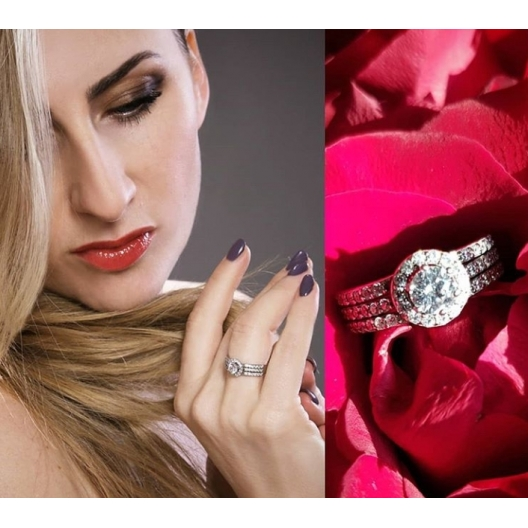 @pamizoma Pierścionek zaręczynowy z brylantem whiteluxury 702