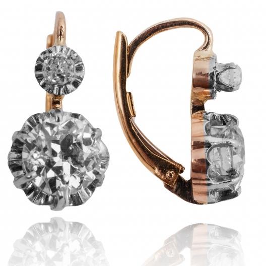 Kolczyki z diamentami ~2.81ct