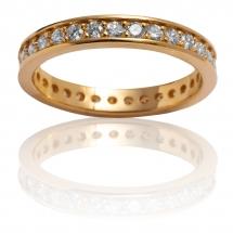 LUXURY BANDS obrączka złota z brylantami