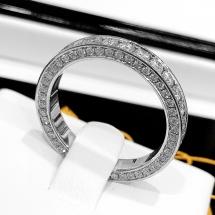 NEW ARRIVAL obrączka z brylantami FULL DIAMOND BAND