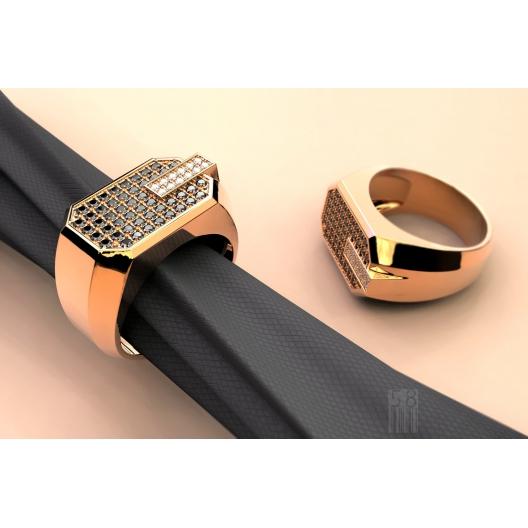 Sygnet Rolex wykonany ze złota z 297 brylantami ~3.72ct
