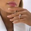 Pierścionek zaręczynowy z brylantem 1 karat