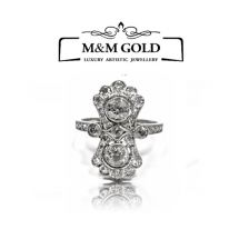 160- Wyjątkowy platynowy pierścionek 1,10ct