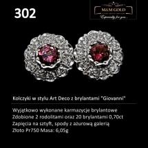 """302 Kolczyki w stylu Art Deco z brylantami """"Giovanni"""""""