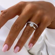 Pierścionek zaręczynowy GlamorousWhite z brylantem 0.92ct