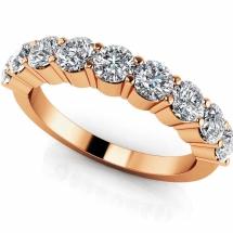 Obrączka z diamentami LuxuryBands z białego złota