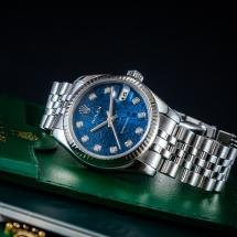 Rolex Datejust 31 - niebieski cyfeblat z diamentami