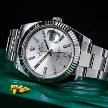 NOWY Rolex Datejust 41 - srebrny cyferblat