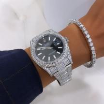 Rolex Datejust 41 - FULLY ICED - Ponad 16ct brylantów wysokiej jakości