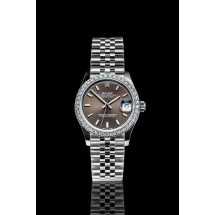 NOWY 2021 Rolex Datejust 31 z brylantowym pierścieniem. Dark Rhodium