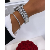 Rolex Datejust 31. Stal szlachetna i białe złoto Brylanty