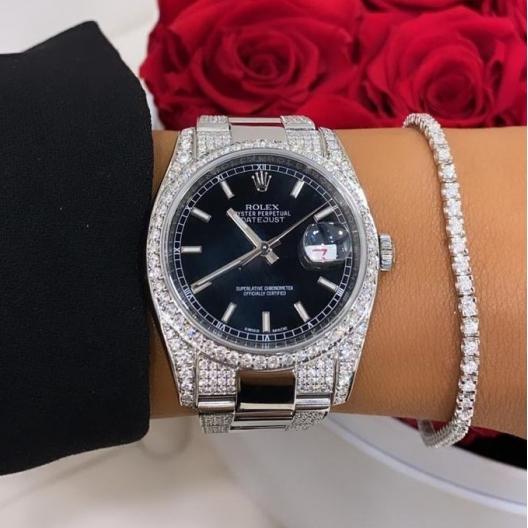 Rolex Datejust 36 zdobiony brylantami - 521 sztuk diamentów wysokiej jakości