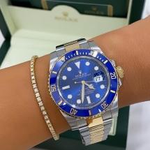 Rolex Submariner Date - stal szlachetna i żółte złoto. Niebieski elementy