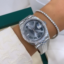 NOWY 2021 Rolex Datejust 36 z diamentowym bezelem - WIMBLEDON