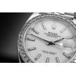 Rolex Datejust 41 brylantowy bezel i biała tarcza