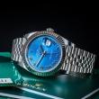 NOWY 2021 Rolex Datejust 41 - niebieski z rzymskimi indeksami